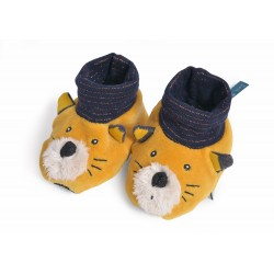 Chaussons Chat moutarde Lulu Moulin Roty