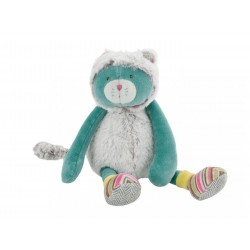 Doudou Chat vert Les Pachats Moulin ROTY